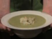 Puree of Asparagus Soup With Lump Crabmeat