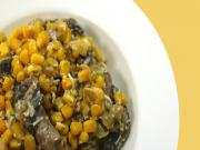 IDcooking.com's Corn with Mushrooms Salad - Quick and Easy