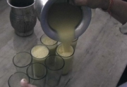 Tasting Thandai in Raja Thandai, Lucknow