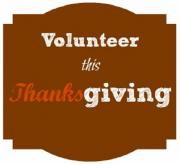 Volunteer this Thanksgiving.