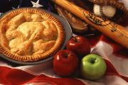 Custard Sauced Deep Dish Apple Pie