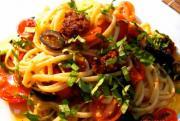 Quick Linguine Pasta with Chorizo in Tomato Sauce