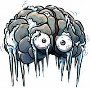 Brain freeze is caused by ice cold water or ice cream