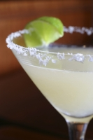 A glass of frozen margarita