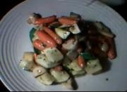 Stir Fried Vegetables Snack