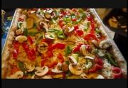Homemade Vegetable and Cheese Pizza