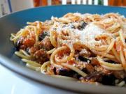 Spaghetti with Ratatouille Sauce