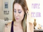 Get Ready With Me: 9/15/13 (Purple Eye Look)