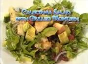 California Salad with Grilled Monkfish