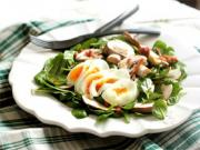 Salad Greens With Bacon Dressing