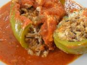Ham and Rice Stuffed Peppers