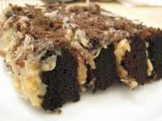 Black And White German Chocolate Cake
