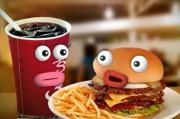 Fast Food Facts with Soda and Burger