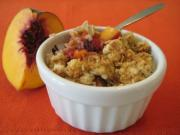 Peach Crumble for Kids