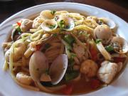 Seafood Over Angel Hair Pasta