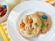 The BEST Peanut Butter Cookies with PB M&Ms