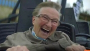 Hilarious Video of 70-Year-Old's First Roller Coaster Ride