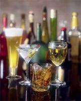 A variety of alcoholic drinks available for selection