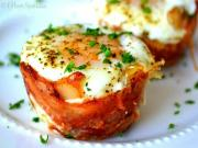 Mini Bacon Egg Toast Cups with Cheddar