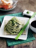 Zaru soba is a kind of cold Japanese noodles served on a bamboo basket