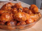 Buffalo chicken wings as dinner appetizer