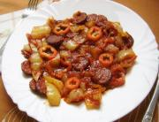 Sausages In Onion Sauce
