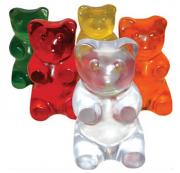 Colorful gummy bear prepared at home