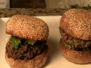 Greek Style, Grass-Fed Lamb Burgers