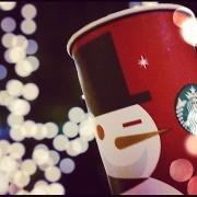 Starbucks launches red cups for holiday season.