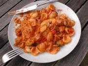 Zucchini with Saffron Sauce