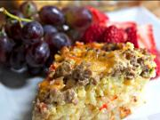 Sausage Hash Brown Casserole - Brunch anyone?