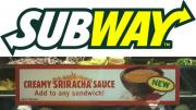 Subway test runs creamy Sriracha sauce at select outlets.