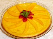 Vegetarian Mango Cheesecake