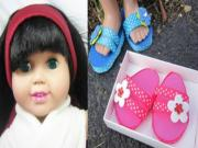 How to make flipflops for your 18 inch dolls like American Girl