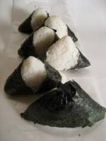 Onigiri also known as Omusubi or nigiri Meshi, are popular Japanese take away snacks