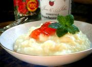 Rice Pudding With Sherry Berry Topping