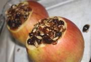 Loganberry Stuffed Apples