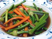 Stir fry Chinese Leek Flower with Oyster Sauce