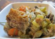 Bread Stuffing Made With Lot Of Vegetables