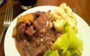 Cider Beef with Mushrooms