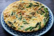 Asparagus  Pepper  and Coat Cheese Frittata
