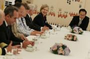 Hillary Clinton employs food diplomacy in her office.