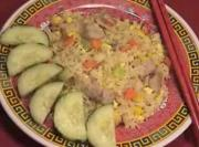 Chinese Pork And Eggs Fried Rice