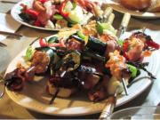 Shrimp, Chicken, Veggie & Bacon Kabobs