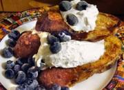 Organic Eggs Blueberry French Toast