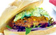 Vindaloo Lamb and Pork Burgers with Cucumber Raita