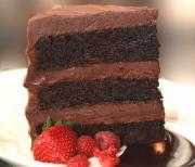 Doubley Dark Chocolate Layer Cake