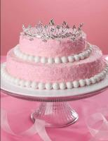 Pink Princess Crown Cake