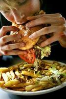 Binge eating - unusual quantity of food consumed in a short span of time