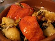 Yemista is a traditional stuffed vegetable dish